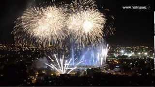 Fuegos artificiales en la inauguración de los Juegos Mundiales Cali, Colombia 25 de julio de 2013