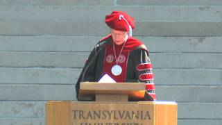 President R. Owen Williams introduces Transylvania's 2011 commencement speaker