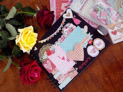 Presente para Namorado – Álbum Romântico Scrapbook – Dia dos Namorados