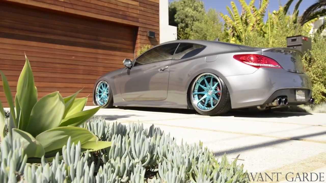 2011 Hyundai Genesis Coupe On 20 Quot Avant Garde F420 Ag Wheels Youtube