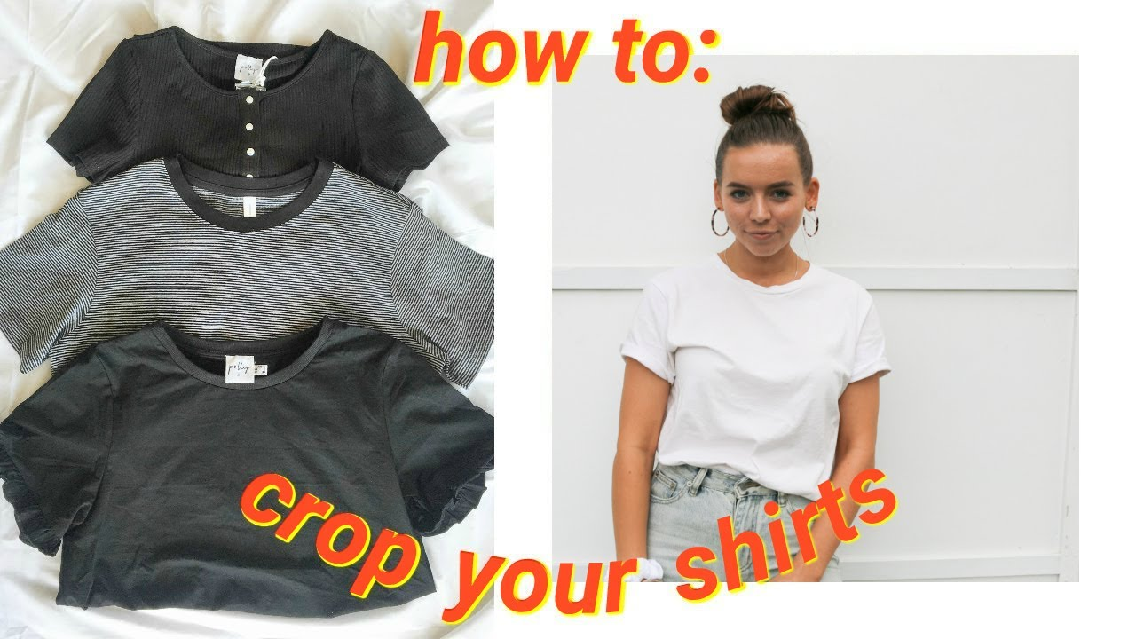 The Quickest Easiest Way To Crop Tee Shirts No Sewing You
