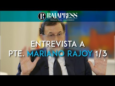 Entrevista a Mariano Rajoy en el Palacio de la Moncloa (Primera parte)