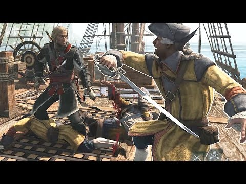 Assassin's Creed 4 Black Flag Edward Kenway vs Man O' War