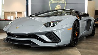 Overview of a 2018 Lamborghini Aventador S LP740-4 Roadster in Grigio Telesto!!!