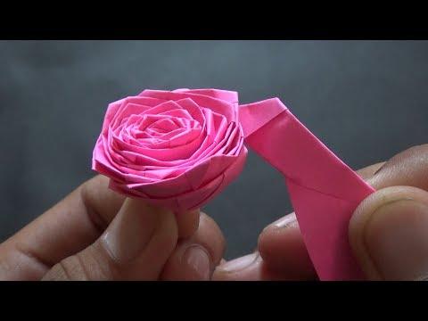 Membuat Bunga Mawar Dari Strip Kertas Youtube