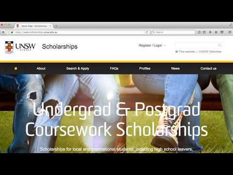 UNSW Scholarships - Application Tutorial 2017