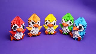 как сделать пингвина из бумаги модульное оригами