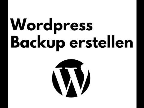 WordPress Backup erstellen – schnell und einfach (Deutsch I German)