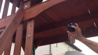 Carpenter Bees Living Inside Child's Swing Set