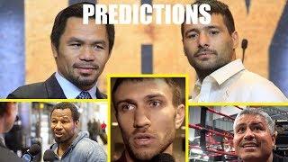 Pros Predict Manny Pacquiao Vs Lucas Matthysse