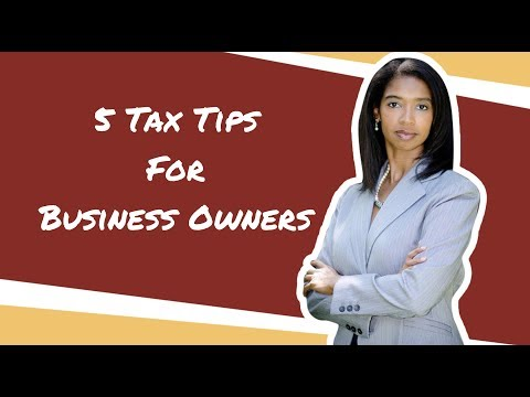 5 Tax Tips For Business Owners 2020