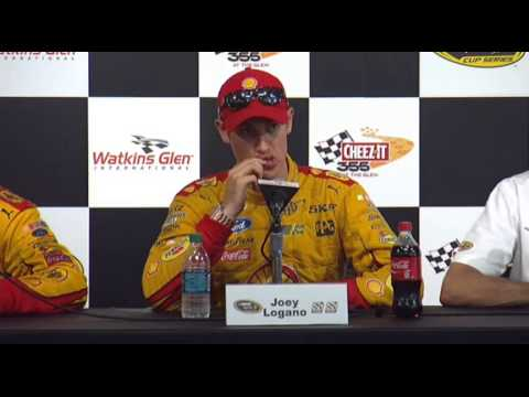 NASCAR Media interview of Watkins Glen winner Joey Logano - Let's Talk Racing