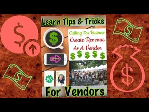 Cutting For Business/becoming A Vendor Made Easy/craft Shows/state Fair/flea Markets/extra Income