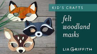 Felt Woodland Masks
