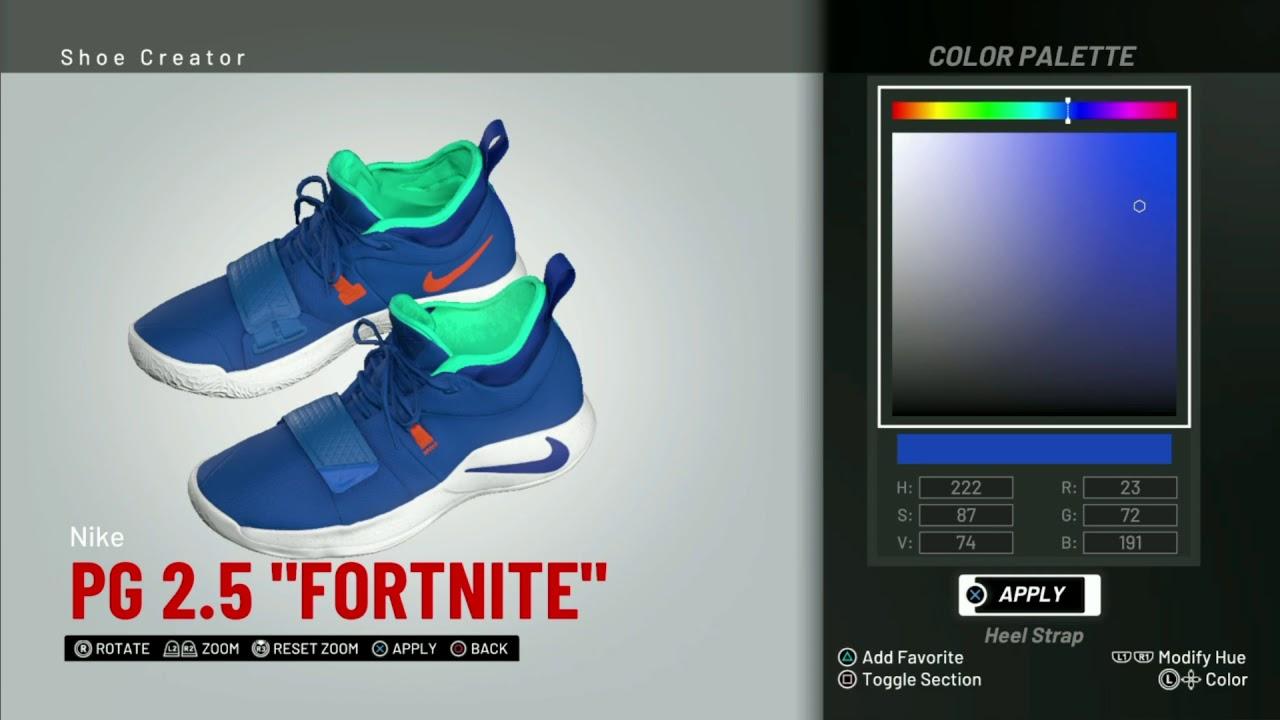 huge selection of 9b5f3 e4225 NBA 2K19 Shoe Creator | Nike PG 2.5
