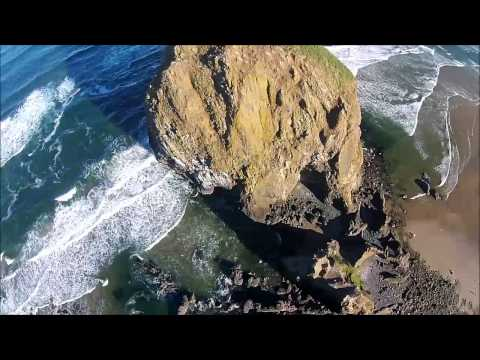 Haystack Rock, Cannon Beach Oregon Drone Video