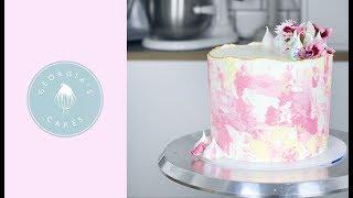 Textured Watercolour Buttercream Cake Georgia S Cakes