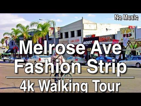 Walking Tour of Melrose Ave | 4K Dji Osmo |No Music