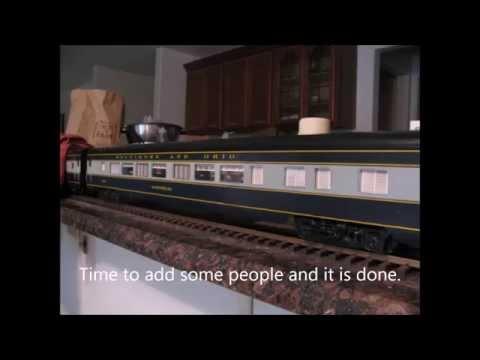 1:32 Scale Pullman Standard 56 seat  coach.