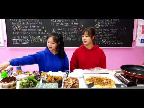아이돌학교 김은서 X 이시안 - 푸드파이터방 (온라인 생방송) Facebook Live 170810