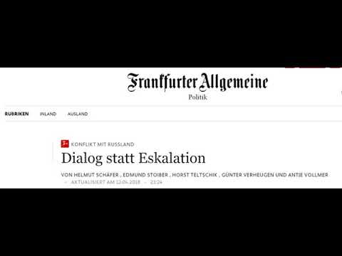 Deskalation mit Russland: Helmut Schäfer/E. Stoiber/Horst Teltschik /G.Verheugen/Antje Vollmer