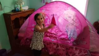 My 5th Birthday! I got a Frozen Bed tent!