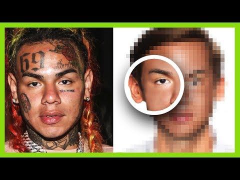 6ix9ine Without Tattoos - Photoshop Extreme Makeover Tekashi69