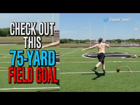 Check out this 75-yard field goal