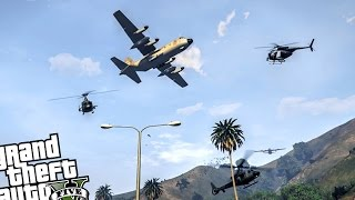 NEW ANGRY PLANES REMAKE! Planes Attack! Total Chaos - GTA 5 PC MOD (Survive The Plane Attack)