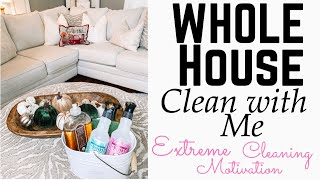 WHOLE HOUSE CLEAN WITH ME | EXTREME CLEANING MOTIVATION | FARMHOUSE DECOR