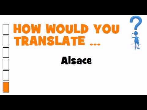 SWEDISH TRANSLATION QUIZ = Alsace