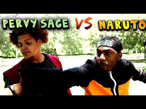 "Jiraiya ""Pervy Sage"" Vs Naruto Pt.2 Ft Rock Lee (Hood Anime)"