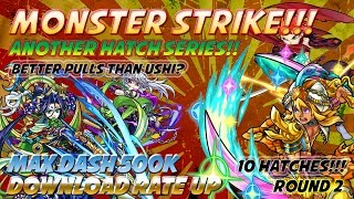 Milko Gaming : Monster Strike! Better Pulls than Ushi? 500k Downloads Max Dash Event