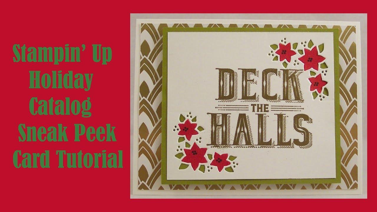 Sneak peek stampin up holiday catalog poinsettia card tutorial w sneak peek stampin up holiday catalog poinsettia card tutorial w carols of christmas stamps kristyandbryce Images