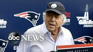 Robert Kraft apologized to his family, friends and fans for his act...