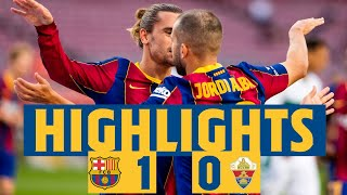 HIGHLIGHTS & REACTION | Barça 1-0 Elche