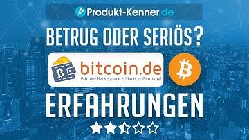 [FAZIT] Bitcoin.de Erfahrungen + Review   Bitcoin.de im TEST! Seriös + sicher oder BETRUG?