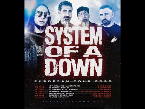 System Of A Down announce the dates for their 2020 European headline tour..!