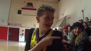 Kellen Smith visits Upper Lake High School classmates