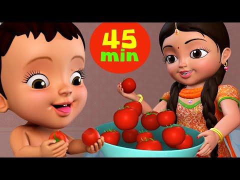 Aaha Tamatar Bada Mazedar And More | Hindi Rhymes For Children Collection | Infobells