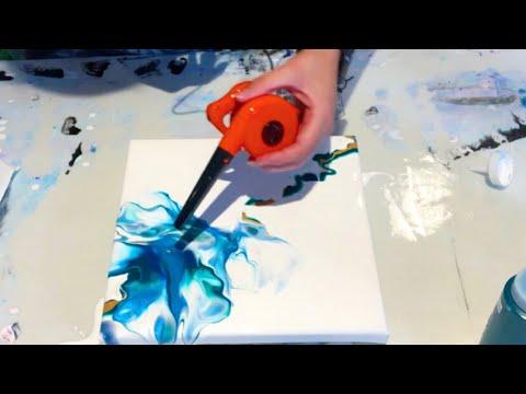 #139 - Leaf Blower Dutch Pour - MUST SEE | Acrylic Pouring | Dutch Pour