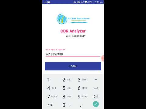 CDR Analysis Mobile Application