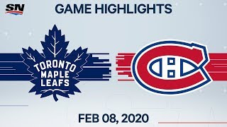 NHL Highlights | Maple Leafs vs Canadiens - Feb. 8, 2020