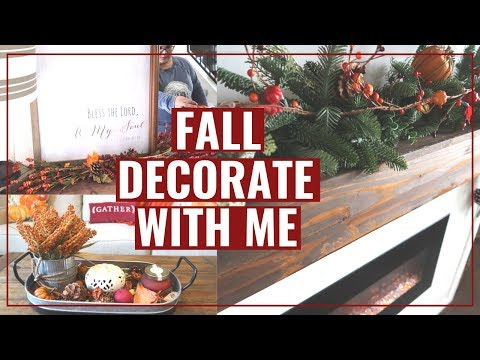 DECORATE WITH ME FOR FALL | FALL DECOR IDEAS | FALL 2019