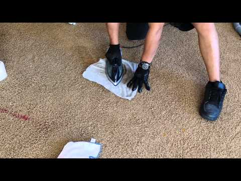 How to remove red stains/nail polish carpet clean