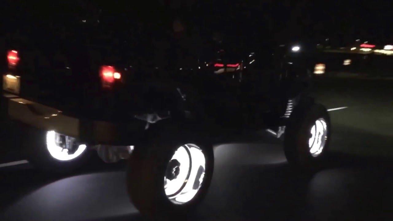 Oracle Wheel Lights on American Force 22x12 Nightmares