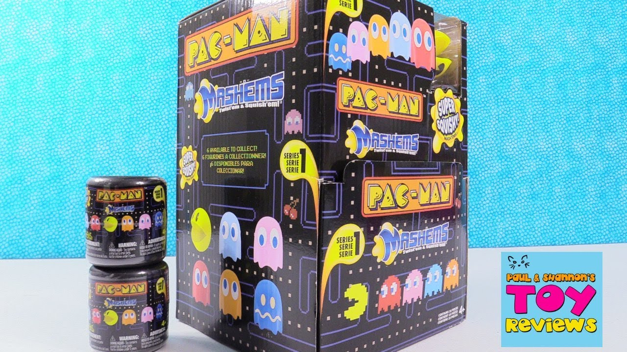 Pacman Pac Man Mashems Series 1 Squishy Toy Review