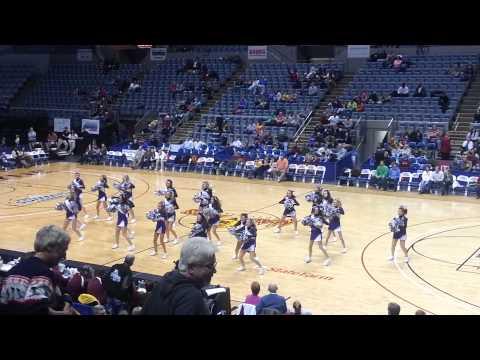 Angola High School Pom/Dance Squad - Mad Ants basketball half time show 1-3-2013