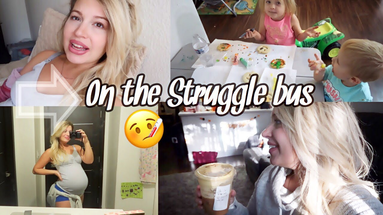 SICK AND 9 MONTHS PREGNANT | DITL OF A SAHM - YouTube