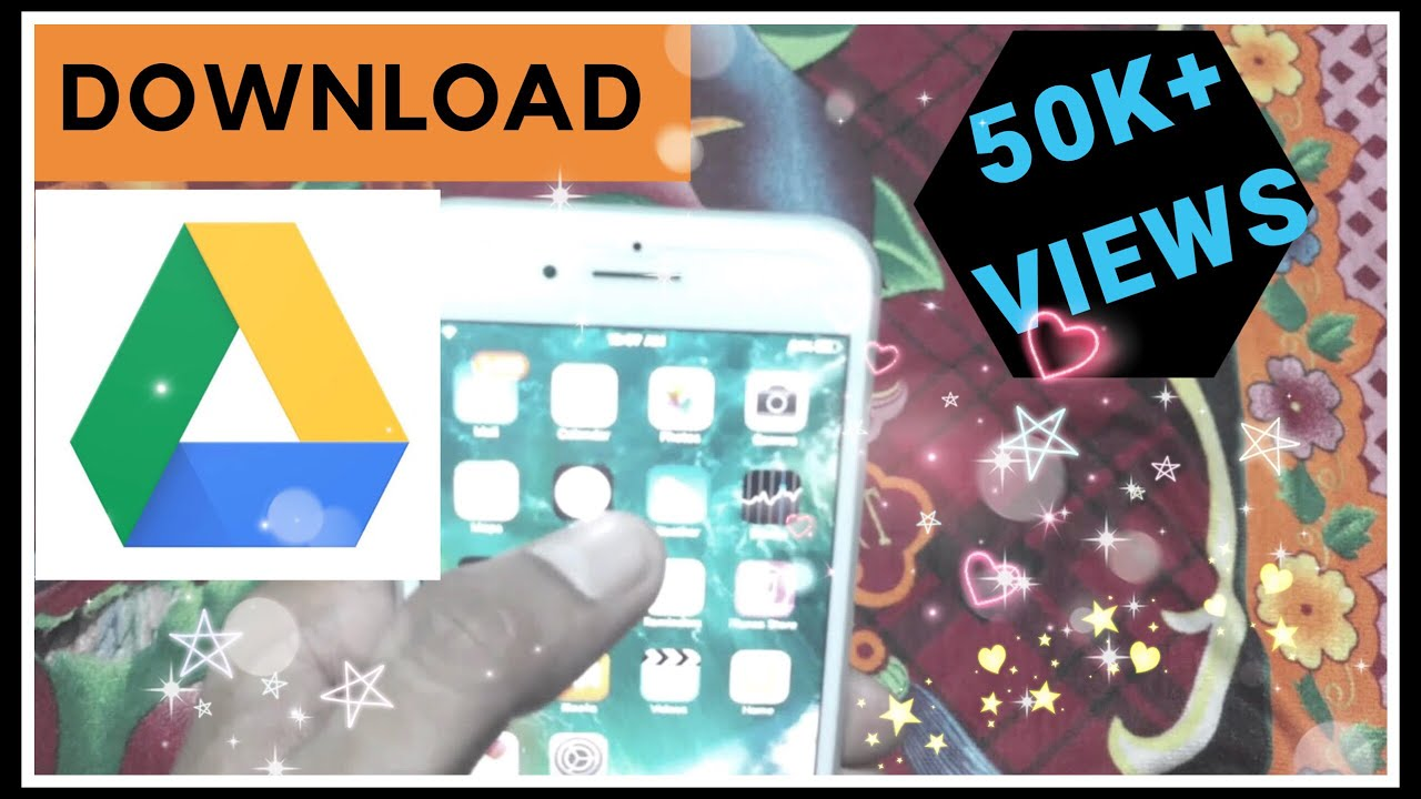 How to save / Download - Photo / video / music / data from Google Drive to  iPhone Gallery iOS